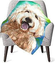 Budxegl Goldendoodle Personalized Baby Blankets -
