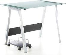 Buerostuhl24 673920 Computer Desk Delphi Silver