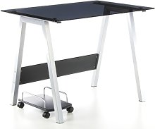 Buerostuhl24 673925 Computer Desk Delphi Silver
