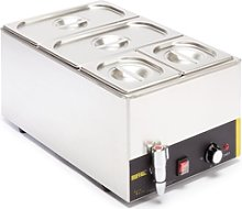 Buffalo Bain Marie With Tap (with Pans) 2 X 1/3 &