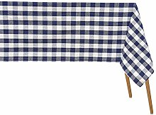 Buffalo Plaid Table Cloth - Navy Blue Plaid