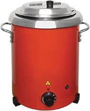 Buffalo Red Soup Kettle With Handles 5.7 Litre Ltr