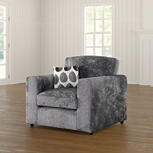 Buford Armchair ClassicLiving Upholstery: Dark Grey