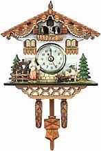 BuGu-MM Vintage Decorative Clock Hanging Wood