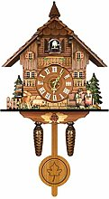 Buhui German Black Forest Cuckoo Clock, Retro