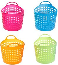 BUIDI Plastic Office Desktop Storage Baskets
