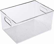Bulary123 Clear Pantry Organizer Bins, Extra Large