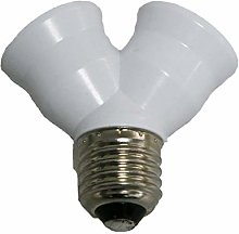 Bulb Socket Lamp Socket Adapter E27 Adapter 1 to 2
