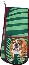 Bulldog Double Oven Glove Potholder by Leslie Gerry