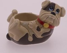 BULLDOG NOVELTY CERAMIC POTTERY EGG CUP