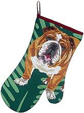 Bulldog Oven Mitt Gauntlet by Leslie Gerry