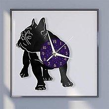 Bulldog theme vinyl record wall clock wall clock