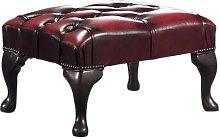 Bullock Leather Footstool Three Posts Upholstery: