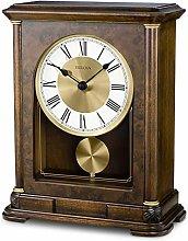 Bulova B1860 Vanderbilt Mantel Clock, Warm Walnu