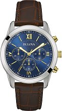 Bulova Men's Chronograph Brown Leather Strap