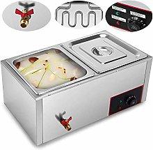 BuoQua 220V Commercial Food Warmer 2 Tray Electric