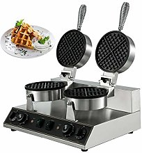 BuoQua Commercial Rotated Double Head Round Waffle