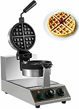 BuoQua Commercial Rotated Round Waffle Maker