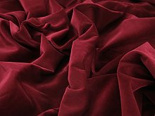 Burgandy 1 Metre - Heavy Weight 100% Cotton Velvet