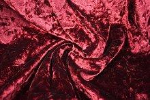Burgandy/Wine Red - Ice Crushed Velvet Glitz
