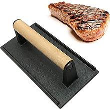 Burger Press Cast Iron Bacon Press Steak Meat