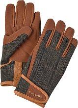 Burgon & Ball Tweed Gardening Gloves, Large, Brown
