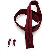 Burgundy Continuous Zip & Sliders No. 5 Zippers
