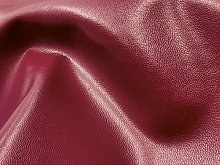 Burgundy Red Faux Leather Fabric by The Metre
