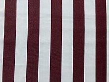 Burgundy & White Striped DRALON Outdoor Fabric