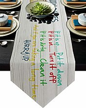 Burlap Table Runner for Party/Dinner Bathtub and