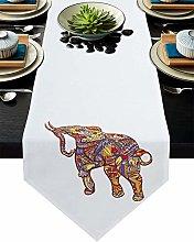 Burlap Table Runner for Party/Dinner Bohemian