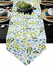 Burlap Table Runner for Party/Dinner Botanical