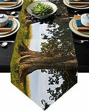 Burlap Table Runner for Party/Dinner Natural