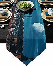 Burlap Table Runner for Party/Dinner Prague Scene