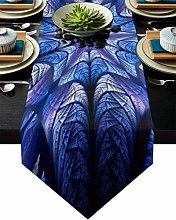 Burlap Table Runner for Party/Dinner Psychedelic