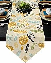 Burlap Table Runner for Party/Dinner Simple Line