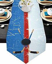 Burlap Table Runner for Party/Dinner Sport Hockey