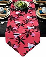 Burlap Table Runner for Party/Dinner Tropical