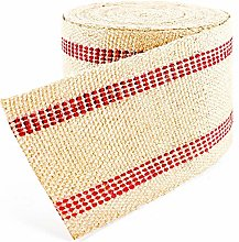 Burlap Wired Ribbon,2.4 in x 39.37 ft Upholstery