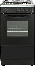 Bush AG56SB 50cm Single Oven Gas Cooker - Black