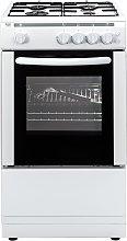 Bush AG56SW 50cm Single Oven Gas Cooker - White
