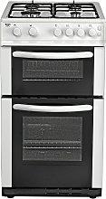 Bush AG56TW 50cm Twin Cavity Gas Cooker - White
