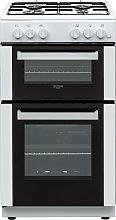 Bush BGC50DW 50cm Double Oven Gas Cooker - White
