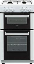Bush BGC50DWX 50cm Double Oven Gas Cooker - White