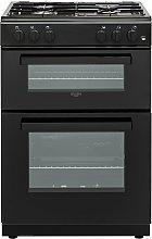 Bush BGC60DBX 60cm Double Oven Gas Cooker - Black