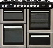 Bush BRC100DHMSS 100cm Dual Fuel Range Cooker -