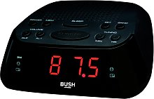 Bush Clock Radio - Black / Silver