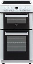 Bush DHBEDC50W 50cm Double Oven Electric Cooker -