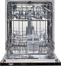 Bush DW12LSINT Full Size Integrated Dishwasher - White
