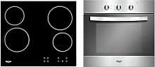 Bush LSBCHP Built In Electric Oven Ceramic Hob Pack